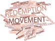 Постер, плакат: Word cloud for Redemption movement