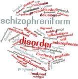 Word cloud for Schizophreniform disorder poster