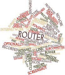 Word cloud for Router