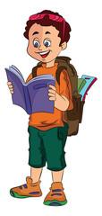 Boy Traveller, illustration