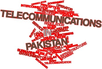 Word cloud for Telecommunications in Pakistan
