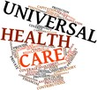Word cloud for Universal health care