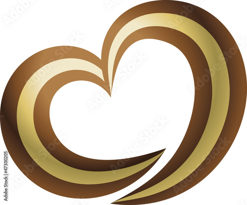 Love coffee and chocolate logo