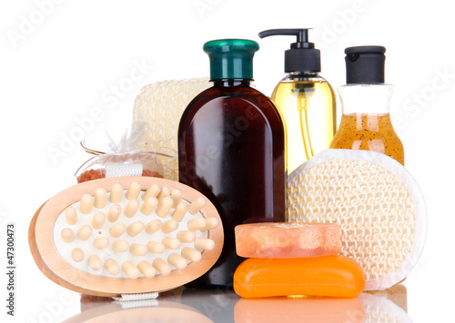 Set for care of a body isolated on white
