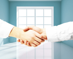 handshake in room
