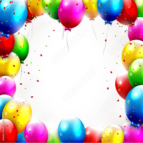 Colorful birthday background..Colorful birthday background