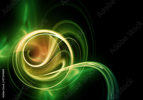 Abstract gold fractal swirl