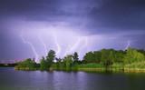 Fototapeta rzeka - grzmot - Dziki pejzaż