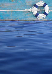 Maritimer blauer Hintergrund