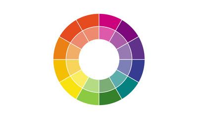 色相環のベクター素材