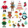 Christmas isolated design elements