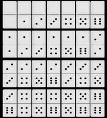 3d Render of a set of Dominoes