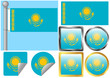 Flag Set Kazakhstan