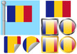 Flag Set Romania
