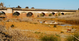 Roman bridge in Niebla, a Spanish village
