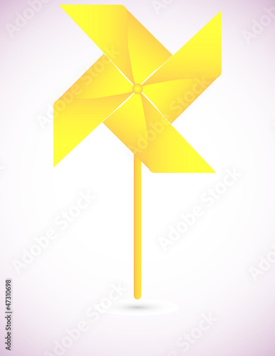 Yellow Origami Pinwheel Background