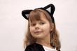 Dziewczynka przebrana za kotka