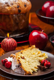 Traditional panettone cake for Christmas