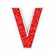 Red letter V
