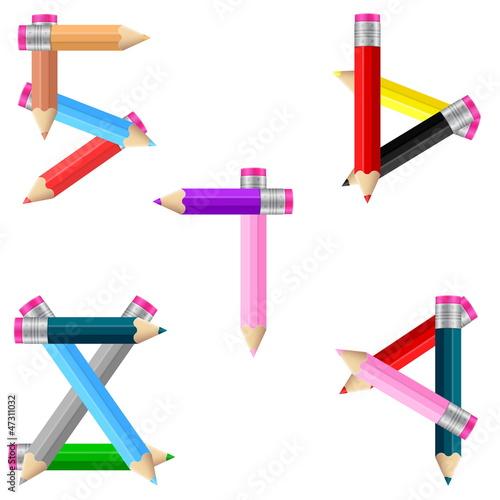 pencils number 5-9