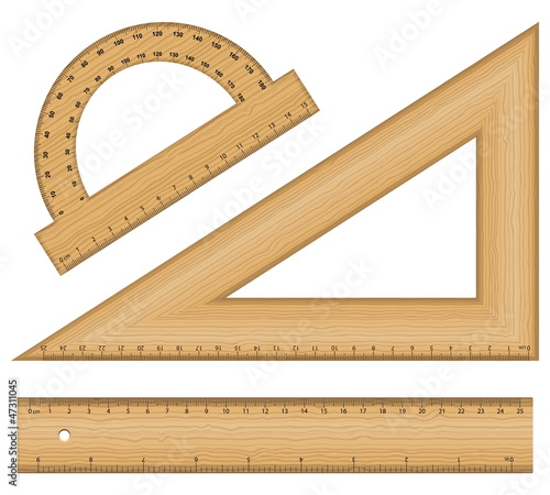 wooden ruler instruments