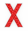 Red letter X