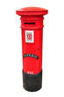 Portuguese red mail box isolated