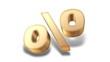 Rabattaktion - 50 Prozent - gold