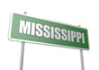Mississippi sign board