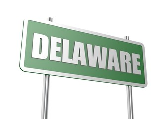 Delaware sign board