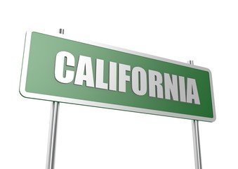 California sign board