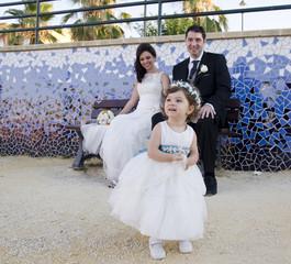 Children before, after wedding