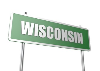 Wisconsin sign board