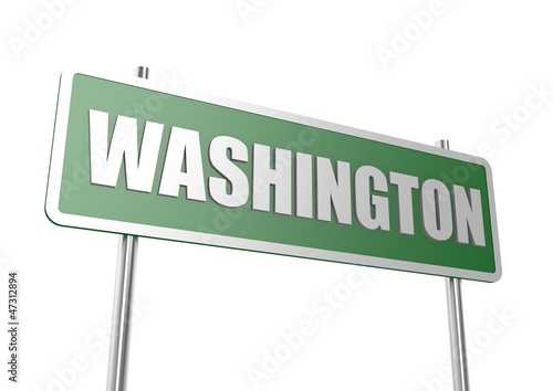 Washington sign board