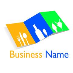 menu restaurant coffee or bar logo