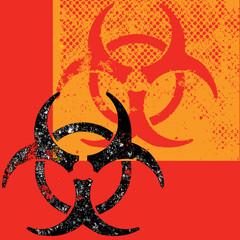 A destroyed style biohazard background