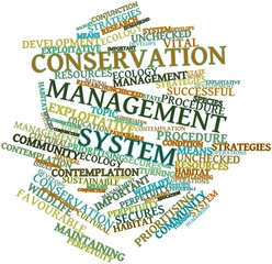 Word cloud for Conservation management system
