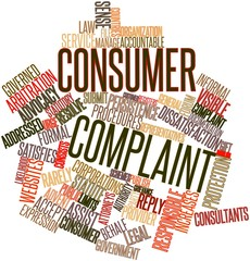 Word cloud for Consumer complaint