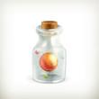 Atom in a bottle, icon