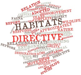 Word cloud for Habitats Directive