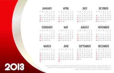 2013 Business Calendar