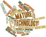 Word cloud for Mature technology