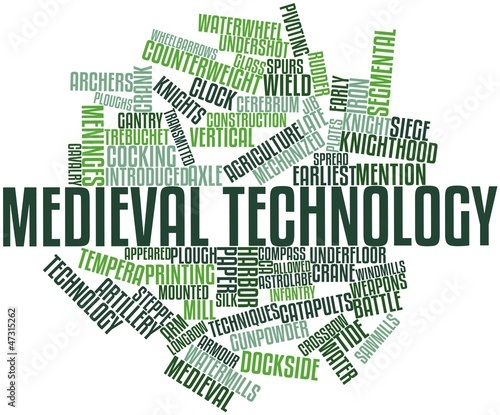 Word cloud for Medieval technology