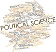 Leinwandbild Motiv Word cloud for Political science