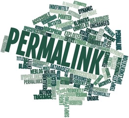 Word cloud for Permalink