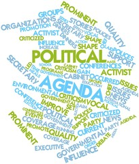 Word cloud for Political agenda