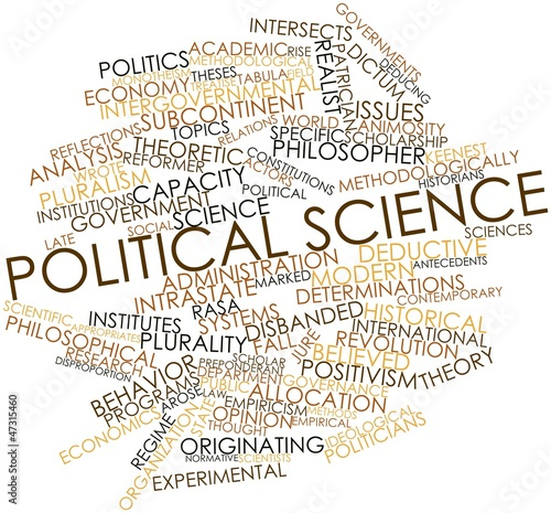 Word cloud for Political science