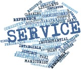 Word cloud for Service