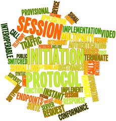 Word cloud for Session Initiation Protocol