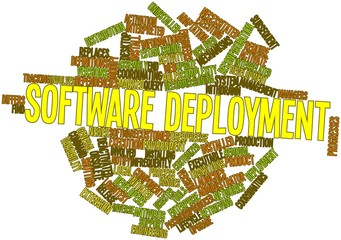 Word cloud for Software deployment